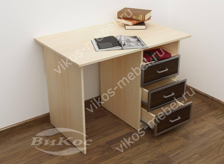 Письменный классический стол пс3 для кабинета дуб.