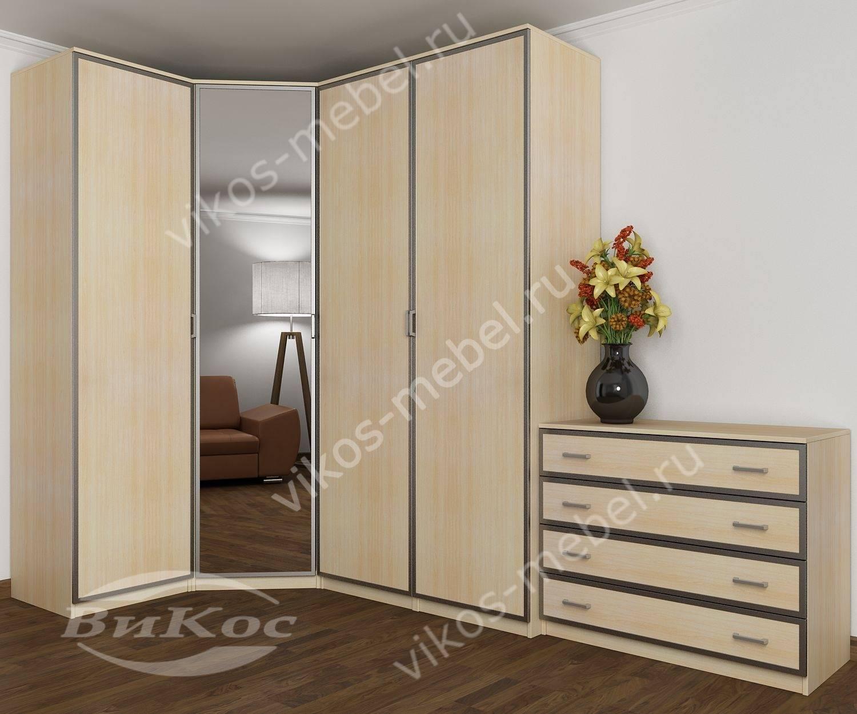 Стильные, красивые угловые шкафы для одежды.
