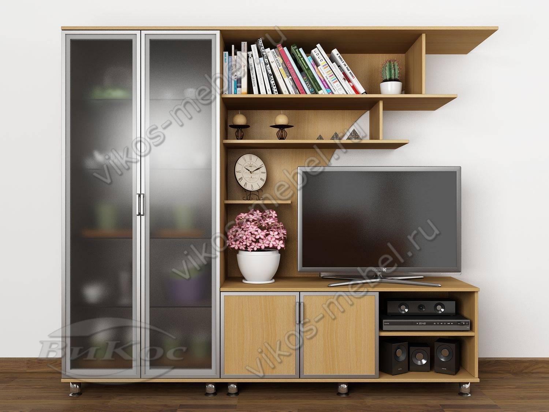 """Мебельная компактная стенка-горка """"фиджи-4"""" под телевизор с ."""