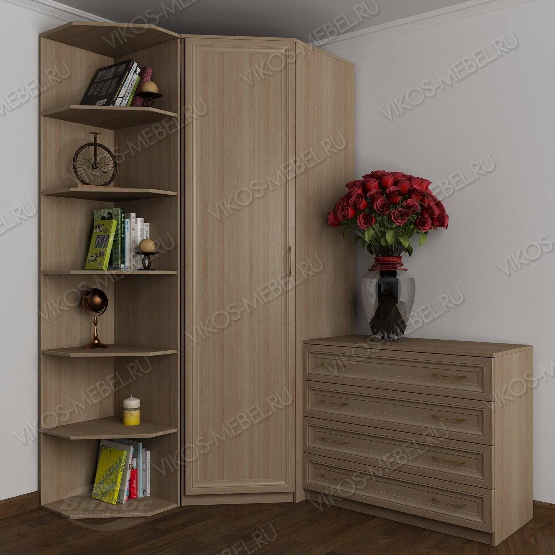 Шкаф угловой с комодом для спальни цвета ясень шимо светлый .