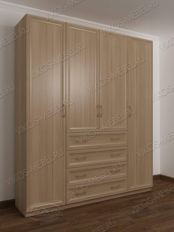 4-дверный шкаф с распашными дверями с ящиками для мелочей цв.