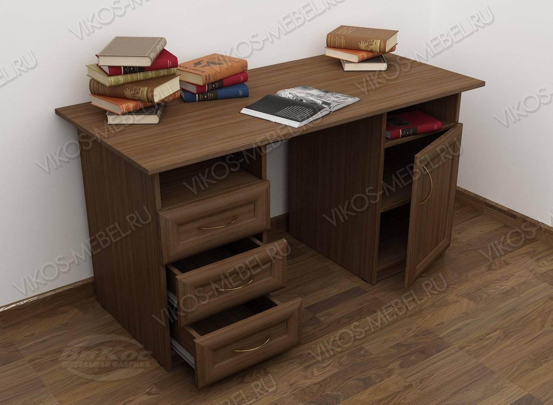 Письменный стол 2-х тумбовый со шкафчиком с ящиками - цена в.