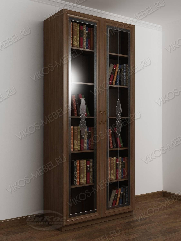 2-створчатый книжный шкаф цвета ясень шимо темный - цена в м.