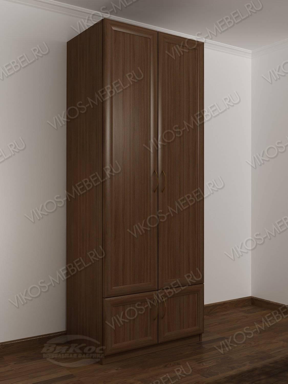 2-створчатый платяной шкаф с антресолью в спальню цвета шимо.