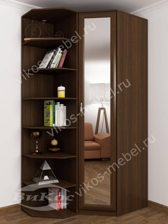 Стильные, красивые одностворчатые угловые шкафы.