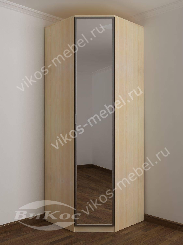 Зеркальный распашной однодверный шкаф для прихожей - цена в .