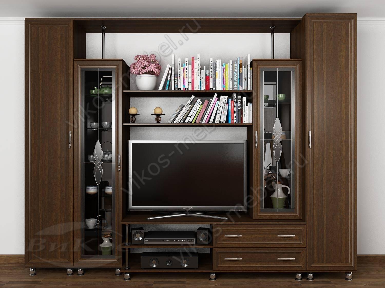 """Современная мини-стенка """"палермо-2"""" с книжными шкафами и нав."""