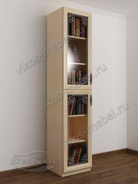 Стильные, красивые книжные шкафы цвет молочный беленый дуб.