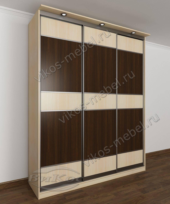 Стильные, красивые шкафы купе цвет беленый дуб - венге.