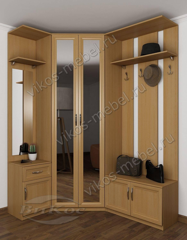 Прихожая угловая с тремя зеркалами и вешалкой бук - цена в м.