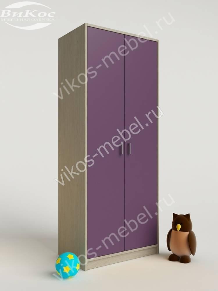 Стильные, красивые детские шкафы цвет фиолетовый.
