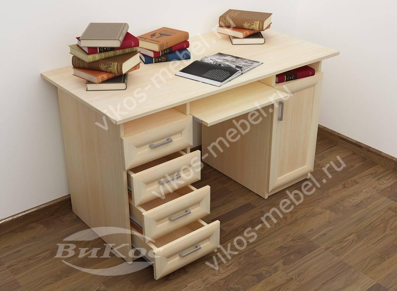 Письменно-компьютерный стол кс11 с 4-мя ящиками и полкой для.
