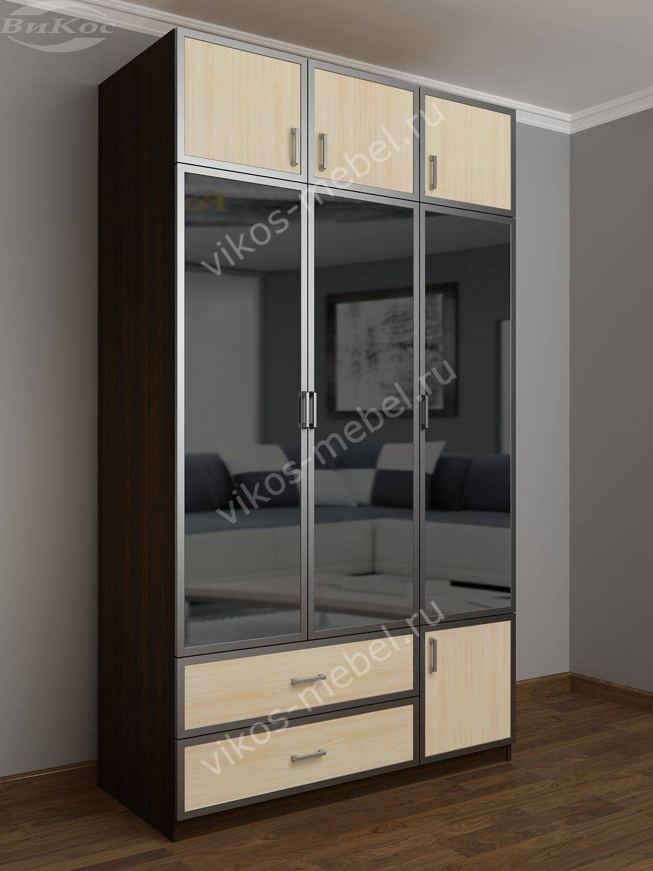 Шкаф 3 дверный с зеркалом для одежды - цена в москве 23490 р.