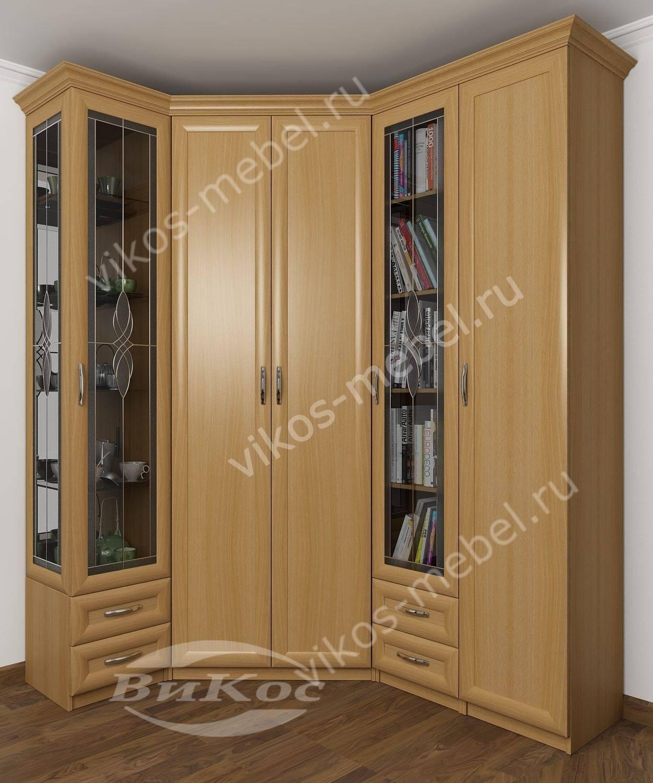 Стильные, красивые большие угловые шкафы.