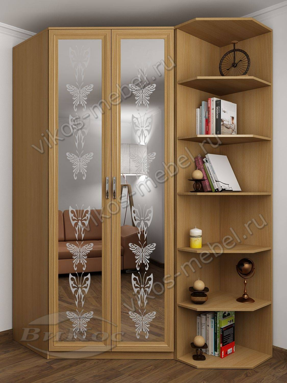 2-дверный распашной шкаф угловой для одежды с пескоструйным .
