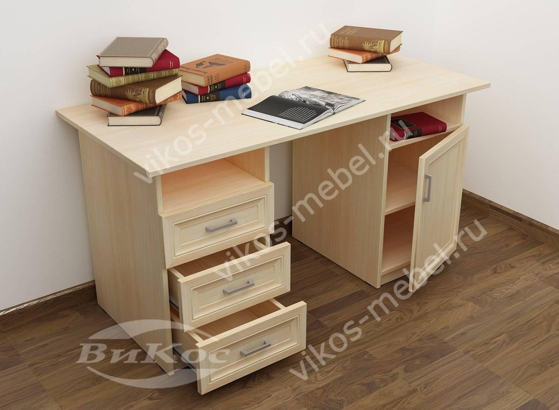 письменный стол для дома с полками и выдвижными ящиками