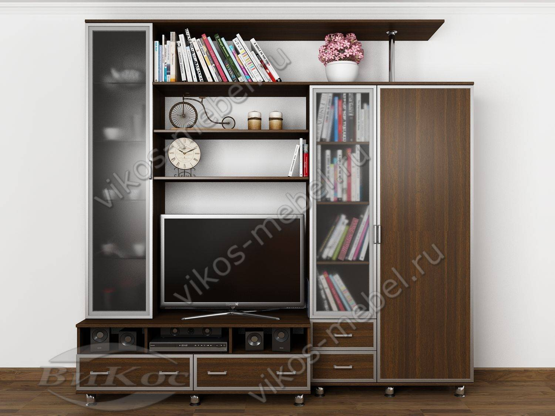 Стенки под телевизор со шкафами под одежду 174