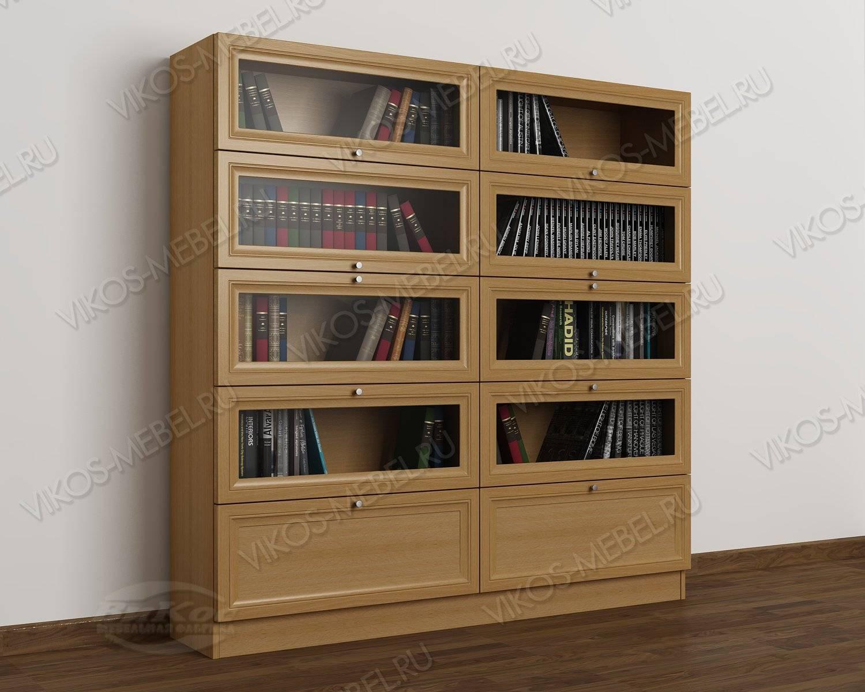 Светлый книжный шкаф сервант цвета бук - цена в москве 21150.