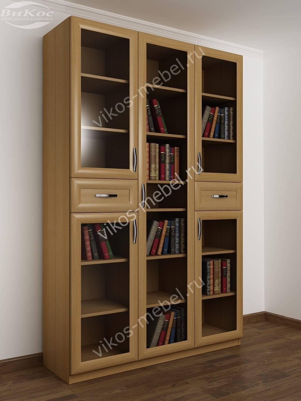 5-дверный книжный шкаф распашной бук - цена в москве 18090 р.