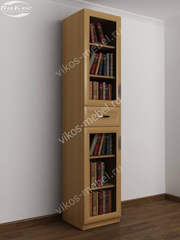 Стильные, красивые книжные шкафы с выдвижными ящиками.