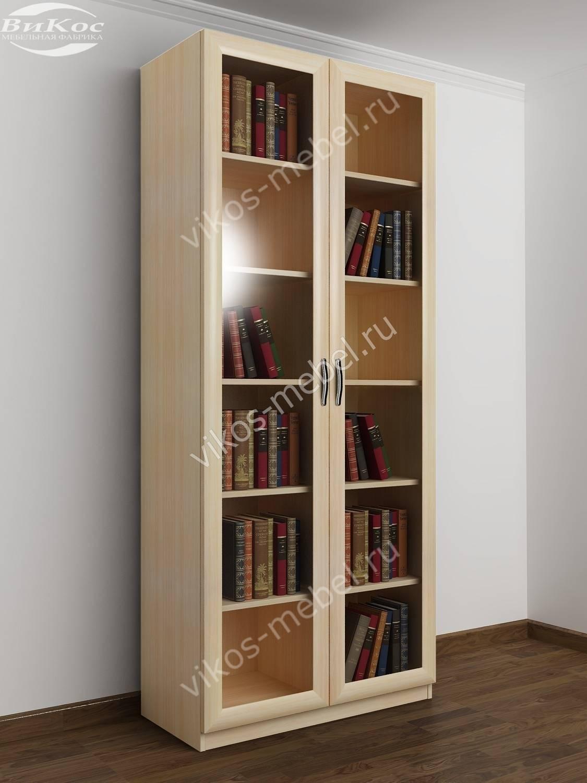Книжный шкаф из ЛДСП со стеклом