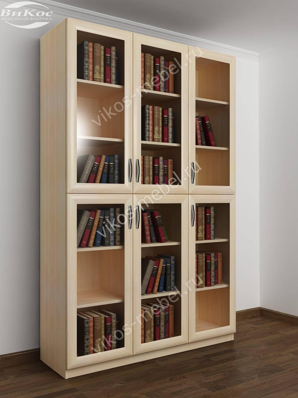 Стильные, красивые книжные шкафы шириной 120-130-135 см.