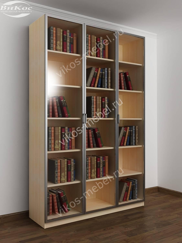 3-створчатый книжный шкаф распашной молочный дуб - цена в мо.