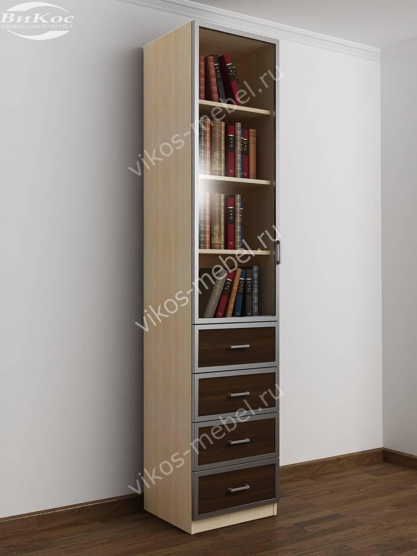 Стильные, красивые одностворчатые книжные шкафы.