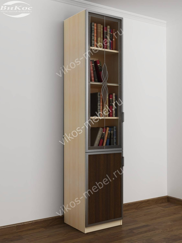 Книжные шкафы со стеклом - главная идея.