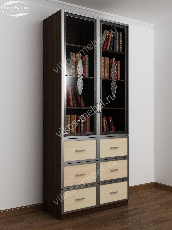 Двухстворчатые книжные шкафы фото топ-10.