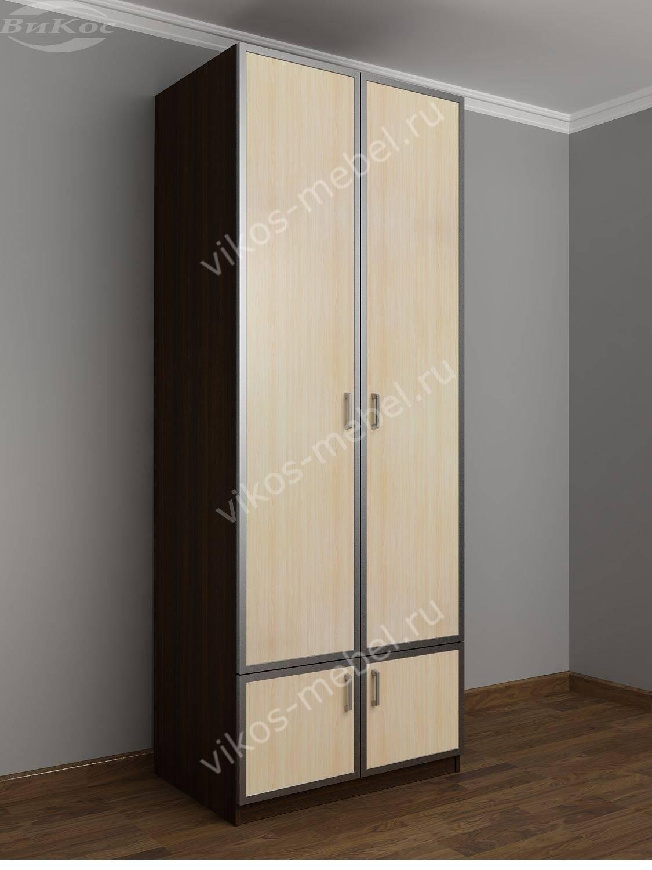 Шкаф платяной двухстворчатый двухцветный - цена в москве 972.
