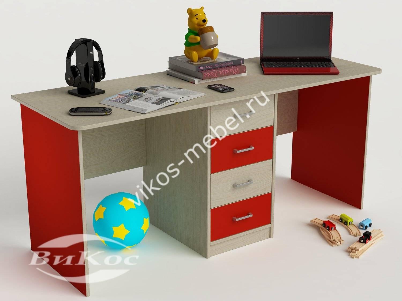 Стильные, красивые детские письменные столы с тумбой.