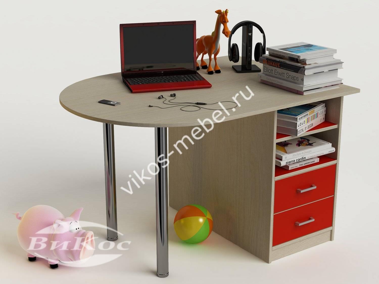 Стильные, красивые детские письменные столы красный цвет.