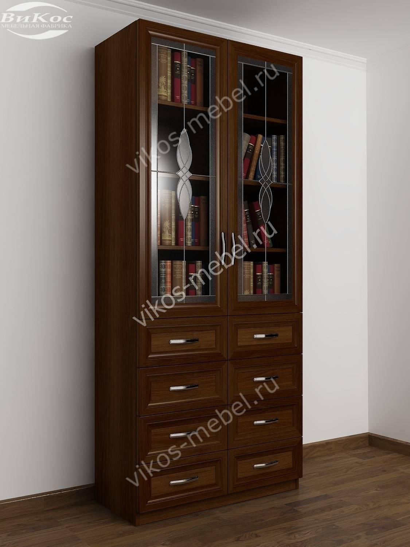 Стильные, красивые двухстворчатые книжные шкафы.