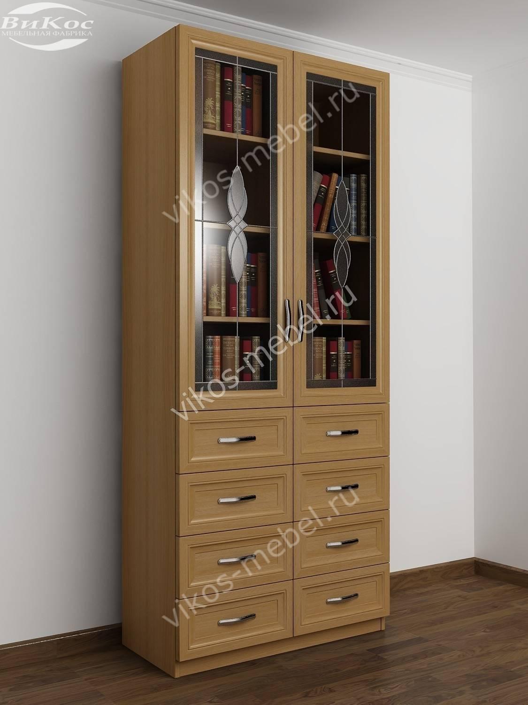 Недорогие книжные шкафы с выдвижными ящиками економ класса.