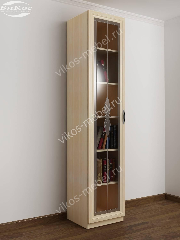 Книжный шкаф одностворчатый шккн(i) 1 со стеклянной дверцей .