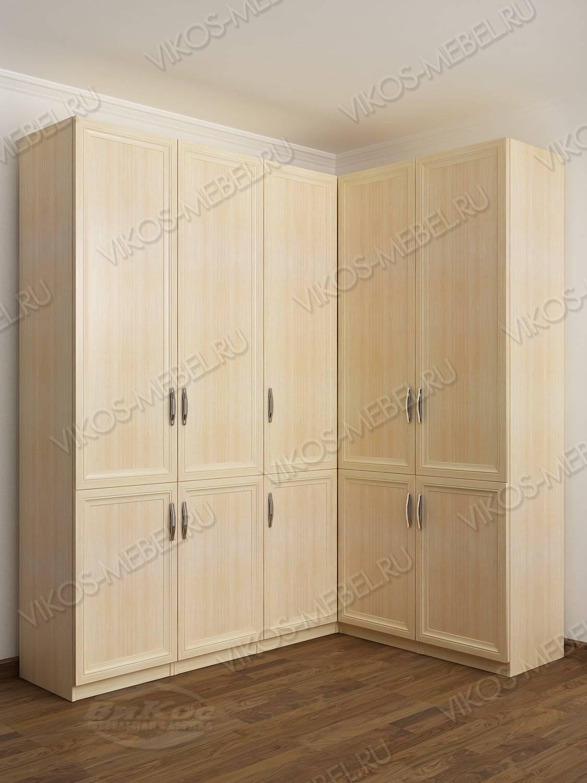 Закрытый 5-x створчатый угловой шкаф с гладким фасадом - цен.