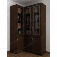 Угловой шкаф для книг в гостиную