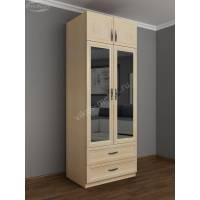 Шкаф двухдверный с зеркалом в спальню