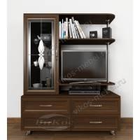 ТВ тумба-1 в классическом стиле с мини-колонной