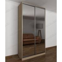 Шкаф купе с зеркалом в современном стиле ясень шимо светлый