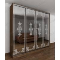 Зеркальный шкаф купе в коридор с алюминиевым фасадом