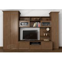 Классическая мебельная стенка для гостиной цвета ясень шимо темный