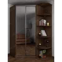 Угловой шкаф для одежды в спальню цвета ясень шимо темный