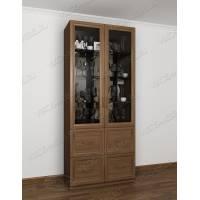 Классический шкаф-витрина цвета ясень шимо темный
