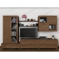 """Мебельная стенка """"Тануки 9"""" в кабинет цвета ясень шимо темный"""