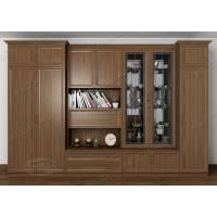 Классическая мебельная стенка в кабинет ясень шимо темный