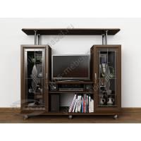 Тумба ТВ-2 с двумя книжными шкафами и навесной полкой