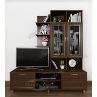 Набор корпусной мебели «Рио 3» с TV-тумбой, мини-барами, сервантом и книжными полками