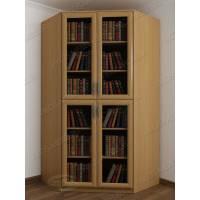 Светлый книжный шкаф бук